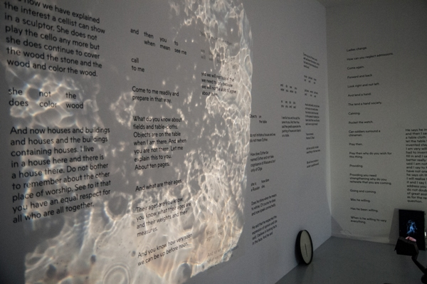 <p>Performance of <em>Things on a Table</em> at the opening of Uta Eisenreich, <em>A Play</em>, Ellen de Bruijne Projects, 2016</p>