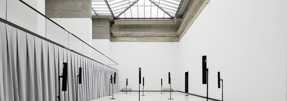 <p>Exhibition view of <em>Seperated Strings</em> at Kunsthalle im Lipsiusbau, 2018</p>